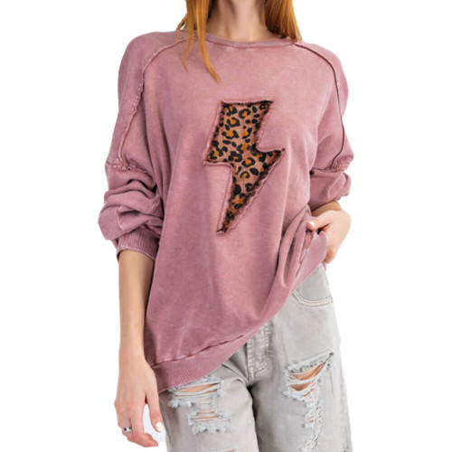 Women's Easel Lightning Patch Pullover Front