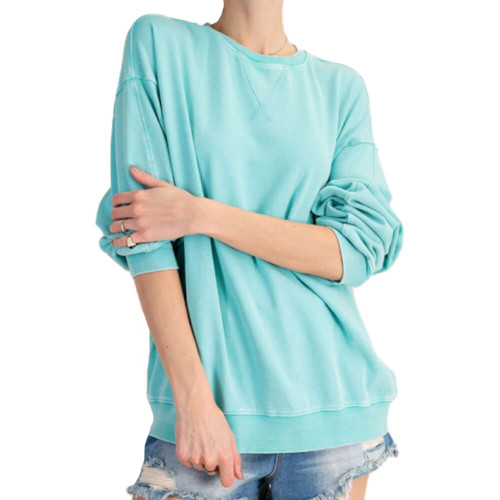 Women's Easel Mineral Washed Pullover