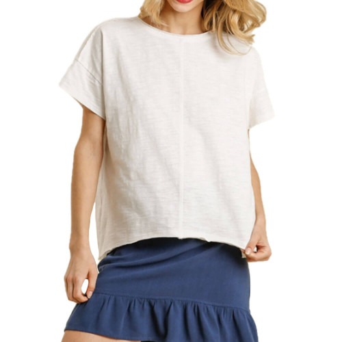 Women's Umgee Vintage Washed Top Front