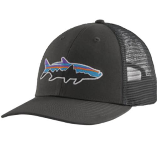 Adult Patagonia® Fitz Roy Fish LoPro Trucker Hat FGFT-Forge Grey w/ Fitz Roy Tarpon