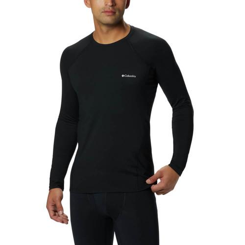 Men's Columbia Long Sleeve Midweight Stretch  Black T-Shirt