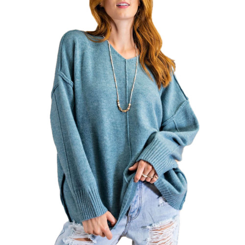 Women's Easel Boxy Knit Sweater Front