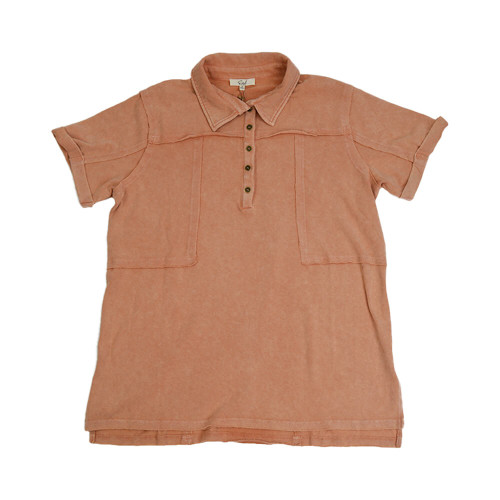 Women's Easel Mineral Washed Henley