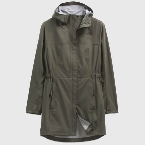 Women's The North Face Allproof Stretch Parka 21L New Taupe Green- Four Leaf Clover