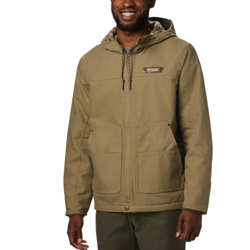 Men's Columbia Roughtail Work Jacket Front 250FLAX