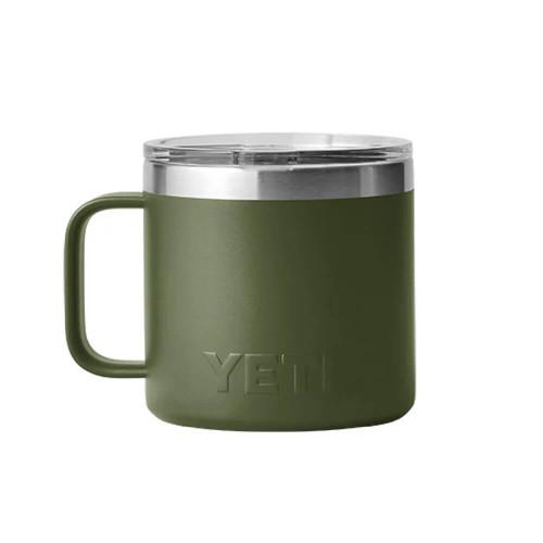 Yeti Rambler® 14 oz. Mug with Magslider Lid - Highlands Olive Front