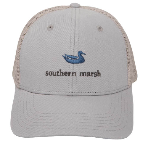 Youth's Southern Marsh Classic Trucker Hat Front GRY