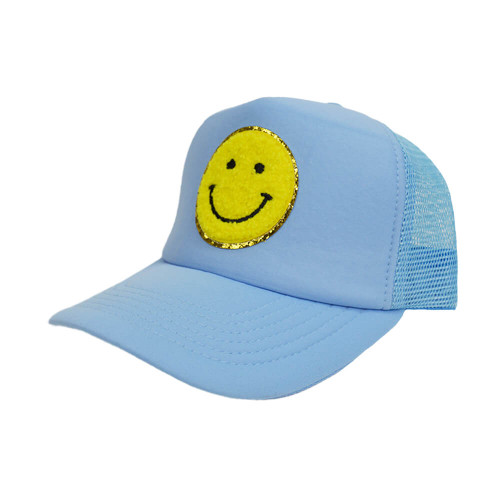 Women's South Terry Smiley Mix Hat - Light Blue
