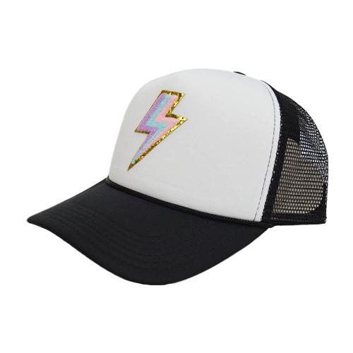 Women's South Retro Bolt Hat Neon Black and White