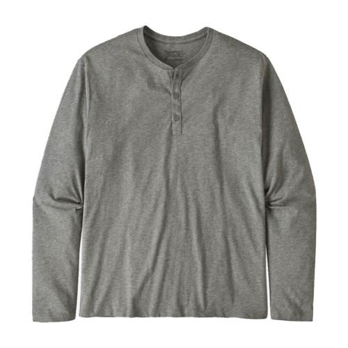 Men's Patagonia Organic Cotton Lightweight Henley Grey Pullover