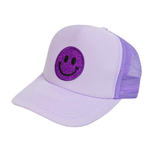 Women's South Glitter Smiley Hat Lavendar