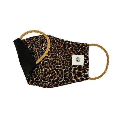 Adult Pomchies Double Layer Reversible Face Mask - Leopard/Black