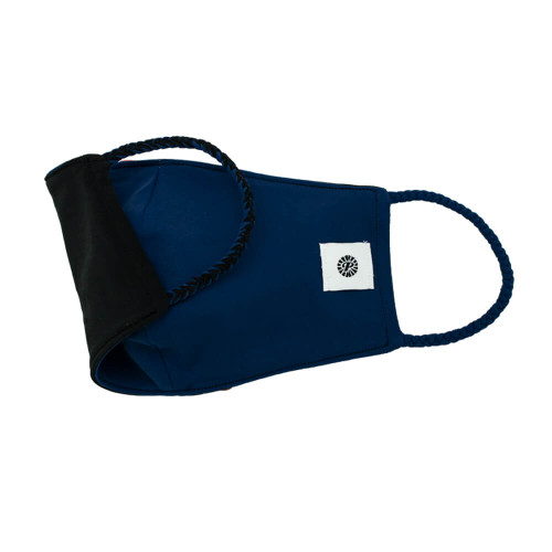 Adult Pomchies Double Layer Reversible Mask - Black/Navy