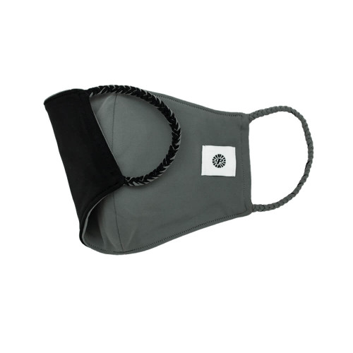 Adult Pomchies Double Layer Reversible Face Mask - Black/Grey
