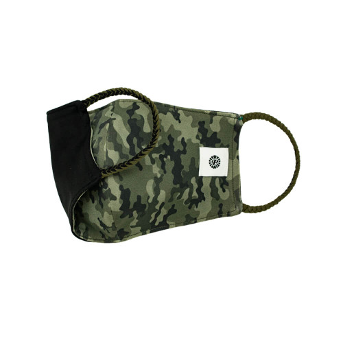 Adult Pomchies Double Layer Reversible Face Mask - Camo/Black