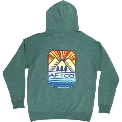 Men's Aftco Sea To Summit Pullover Forest Hoodie