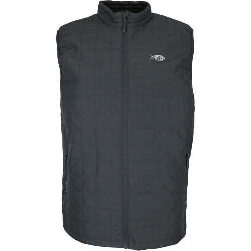 Men's Aftco Pufferfish Insulated Charcoal Heather Vest