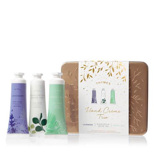 Thymes Lavender, Eucalyptus White Tea, Neroli Sol Hand Cream Trio