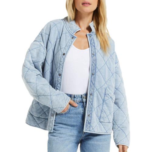 Women's Z Supply Maya Knit Denim Jacket