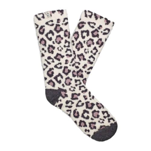 Women's UGG Leslie Graphic Cream Leopard Crew Sock