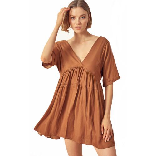 Women's Mustard Seed V-Neck Mini Dress