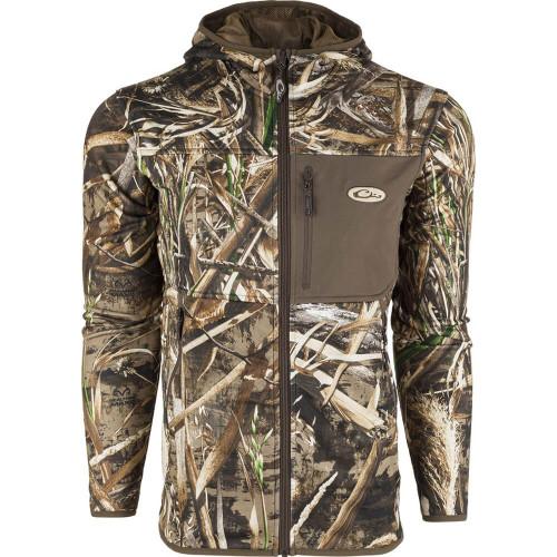 Men's Drake Technical Performance Fleece Real Tree Max Full Zip Jacket