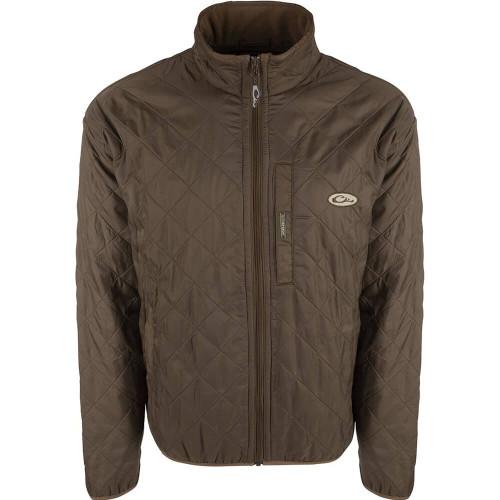 Men's Drake Delta Fleece Lined Dark Earth Quilted Jacket