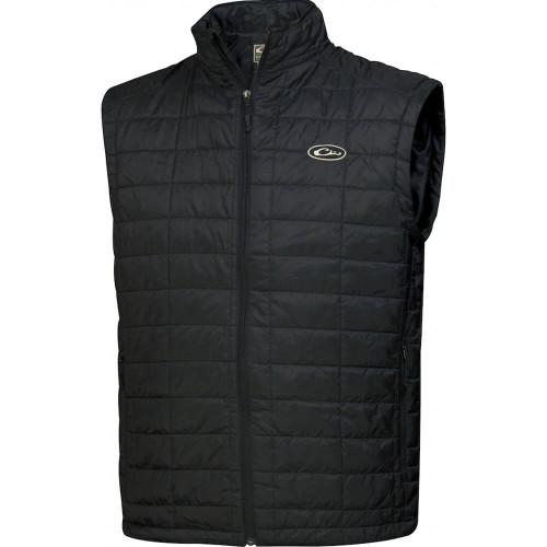 Men's Drake MST Black Synthetic Down Pac Vest