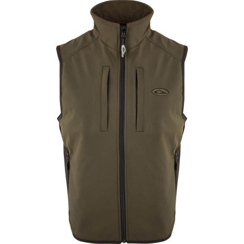 Men's Drake EST Olive Windproof Tech Vest