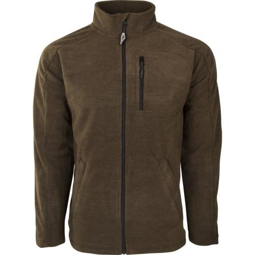 Men's Drake Brown Heathered Windproof Full Zip Jacket