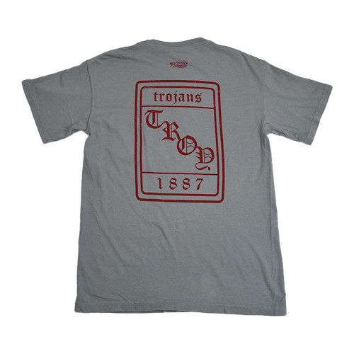 Men's Troy Southern Collegiate Vintage Old English Short Sleeve T-Shirt Grant Back