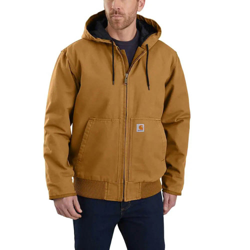 Men's Carhartt Washed Duck Insulated Active Carhartt Brown Jacket