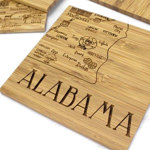 Adults' Totally Bamboo Alabama Coaster Puzzle Set
