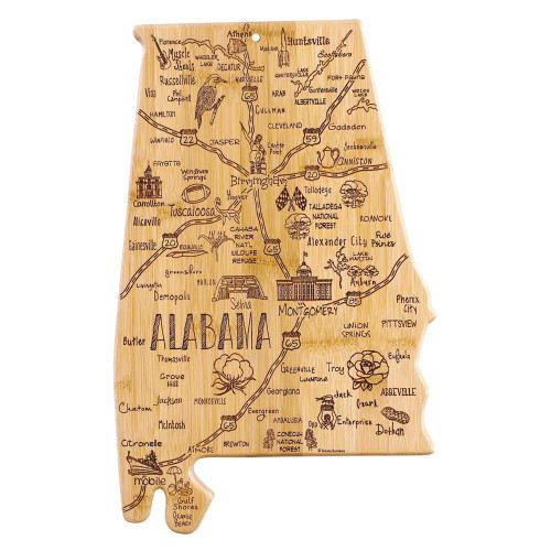 Totally Bamboo Alabama Destination Cutting Board