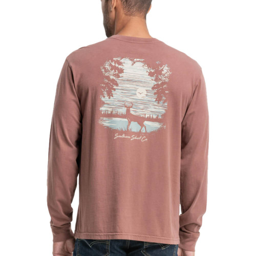 Men's Southern Shirt Co. Whitetail Preserve Maroon Tee