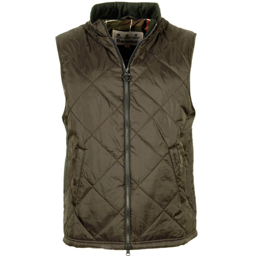 Men's Barbour Olive Finn Gilet Vest