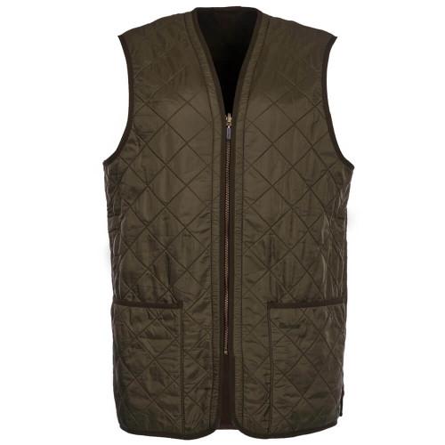 Men's Barbour Olive Polarquit Zip-In Liner Vest