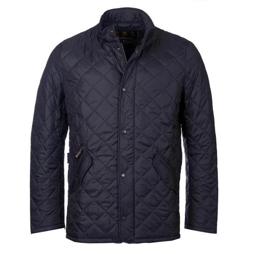 Men's Barbour Flyweight Navy Chelsea Quilted Jacket