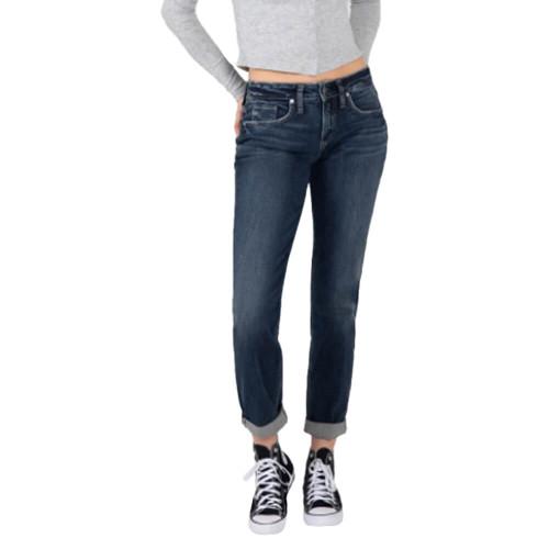 Women's Silver® Jeans Co. Mid Rise Boyfriend Indigo Jeans