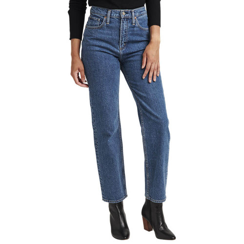 Women's Silver® Jeans Co. Highly Desirable Straight Leg Indigo Jeans