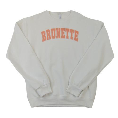 Women's Dash Forward Brunette White Sweatshirt
