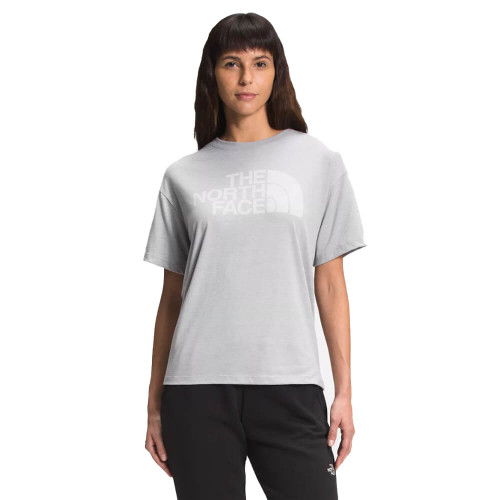 Women's The North Face Half Dome Tri-Blend Crew Front GREY