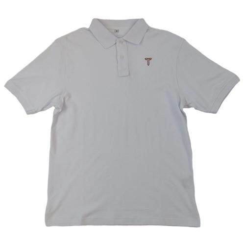 Men's Troy Southern Collegiate Stretch Pique White Polo