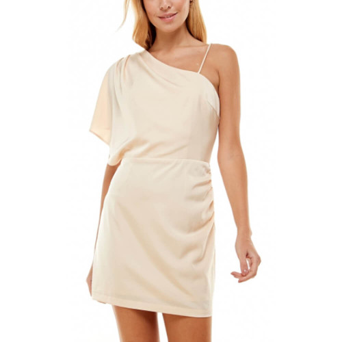 Women's TCEC One Shoulder Asymetrical Dress Nude Color