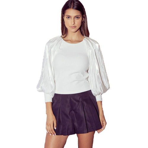 Women's DO+BE Cape Sleeve Off White Top