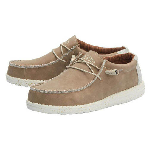 Men's Hey Dude Wally Recycled Leather Shoe Pair TRAVRTNE