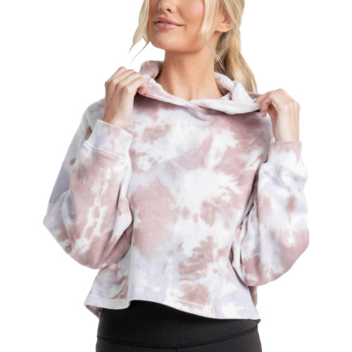 Women's Southern Shirt Co. Cropped Tie Dye Mulberry Hoodie