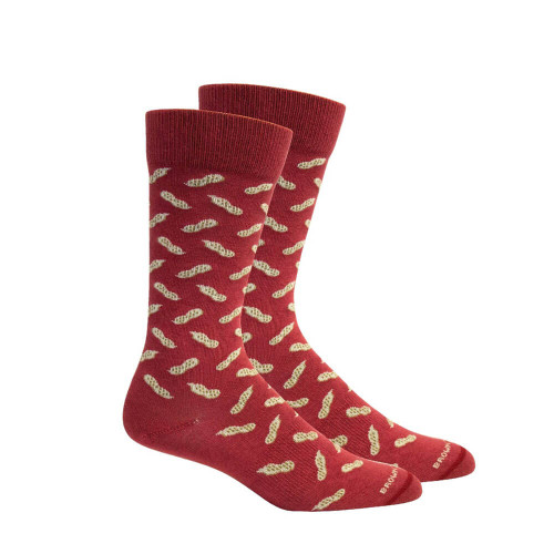 Men's Brown Dog Red Peanuts Socks