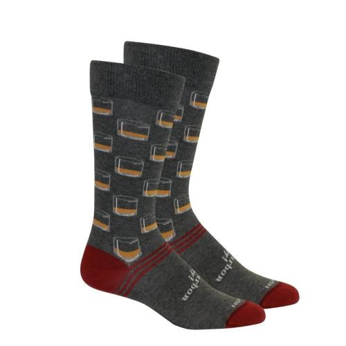 Men's Brown Dog Neat Socks