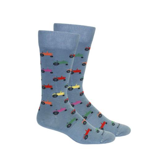 Men's Brown Dog Tractor Socks
